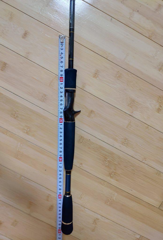 竿の長さでバスのサイズを図る