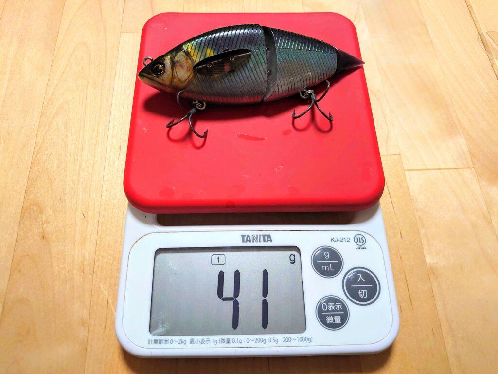ハニタス リアルアユ 実際の重さ計量
