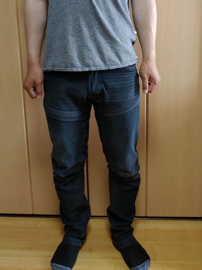 D防水ストレッチデニムパンツを履いてみた